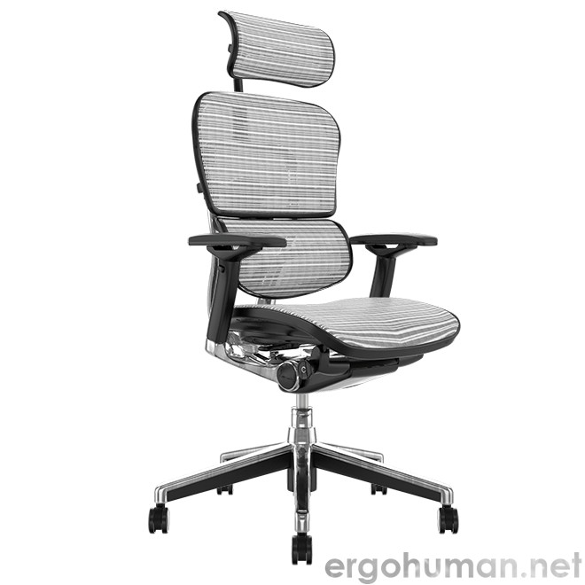 Ergohuman Elite White Mesh Office Chairs