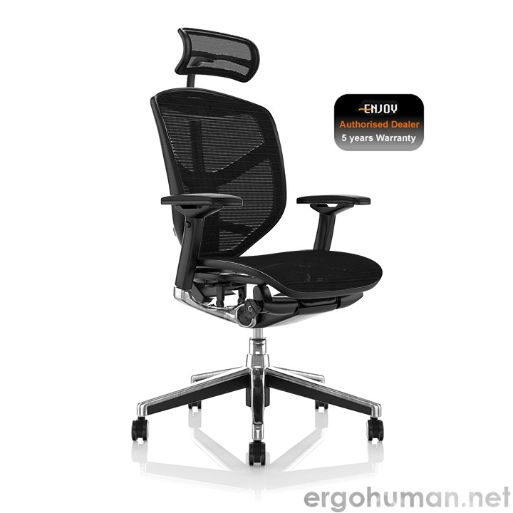 Enjoy Black Mesh Office Chair with Head Rest