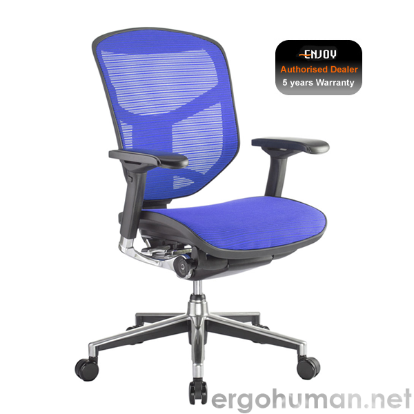 Enjoy Elite Blue Mesh Office Chair no Head Rest