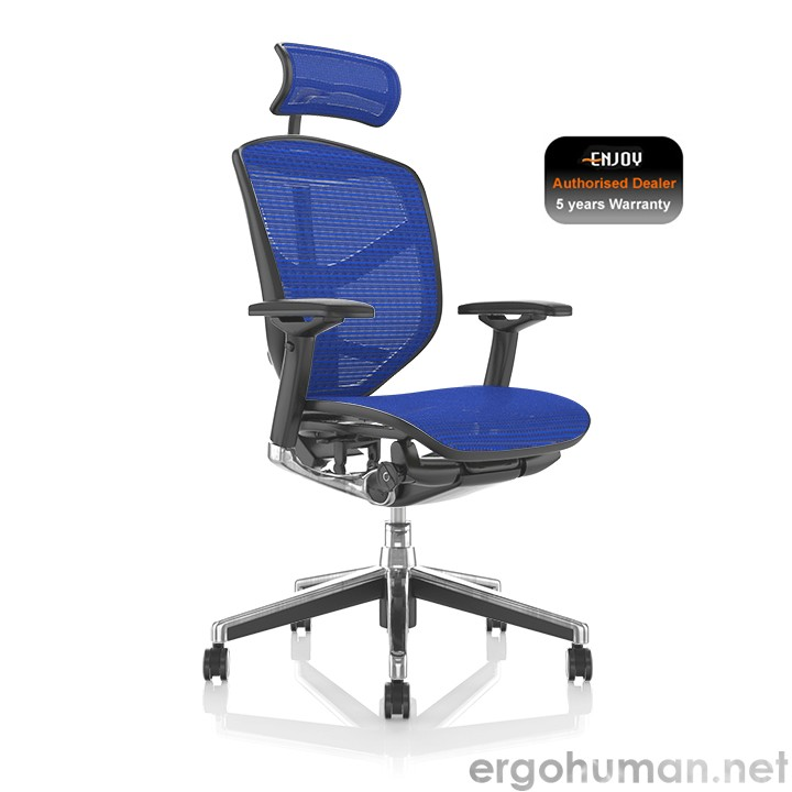 Enjoy Blue Mesh Office Chair with Head Rest